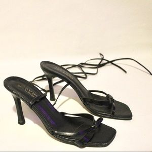 Bruno Valenti Shoes - Bruno Valenti Square Toe Lace Up Sandal Heels